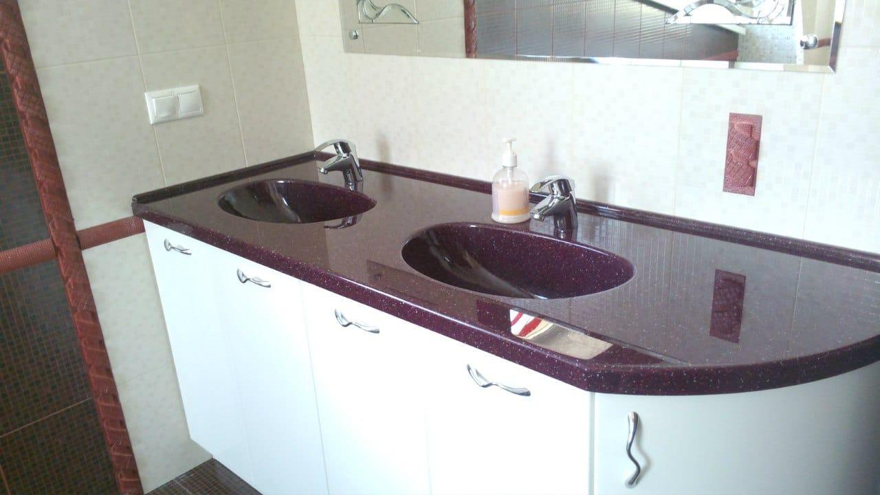 Столешница в ванную из искусственного камня спб столешница для верстака 1200х600 купить
