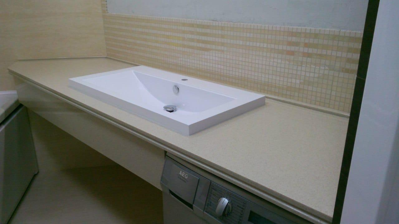 Столешница для ванной комнаты Раковина из искусственного камня corian Ершово