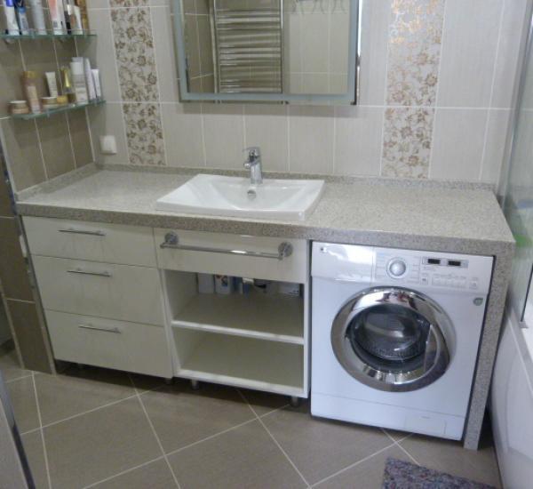 Мебель для ванной столешница единая с раковиной столешница a066